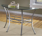 Abbington Console Table (Dark Pewter & Glass Finish)