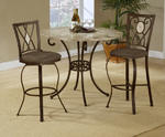 Brookside Counter Height Dining Table (Brown Powder Coat Finish)