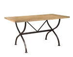 Charleston Counter Height Rectangle Wood Dining Table (Desert Tan Finish)