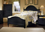 Cottage Collection Panel Bed (Black Finish)