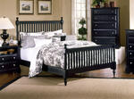Cottage Collection Slat Poster Bed (Black Finish)