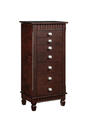 Contemporary Jewelry Armoire (Merlot)