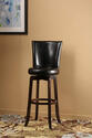 Copenhagen Swivel Counter Stool (Expresso & Black Finish)