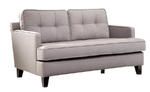 Eden Loveseat (Cement Gray Fabric)