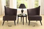 Elegant Accent Chair with Left-Flared Back (Black Microfiber) - [LC2132MFBLLE] 1