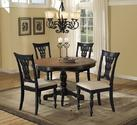 Embassy Five Piece Dining Set (Rubbed Black & Cherry Finish)