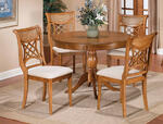 Glenmary Pedestal Table (Oak Finish)