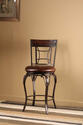 Granada Swivel Counter Stool (Dark Chestut & Brown Finish)