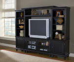 Grand Bay Small Entertainment Wall Unit (Black Finish)