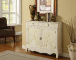 Hand-Painted Two Door Console (White)