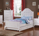 Jesse Trundle Bed - Twin (White Finish)