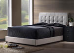 Lusso Bed (White Faux Leather)
