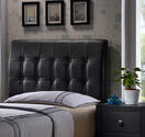 Lusso Headboard (Black Faux Leather) - [1281-370] 1