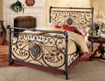 Mercer Bed (Antique Brown Finish)