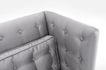 Noho Loveseat (Silver Satin Fabric) - [LC10062SIL] 4