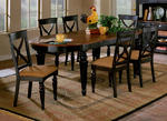 Northern Heights Dining Table (Black & Cherry Finish)