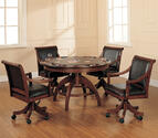 Palm Springs Game Table (Medium Brown Cherry Finish)