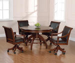Palm Springs Game Table Set (Medium Brown Cherry Finish) - [4185GTBC]