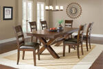 Park Avenue Trestle Dining Set (Dark Cherry Finish)
