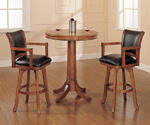 Park View Bar Height Table Set (Medium Brown Oak Finish)