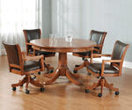 Park View Game Table Set (Medium Brown Oak Finish) - [4186GTBC]