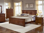 Reflections Mansion Panel Bed (Medium Cherry Finish)