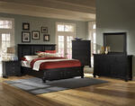 Reflections Mansion Storage Bedroom Set (Ebony Finish)