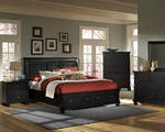 Reflections Sleigh Storage Bed (Ebony Finish)