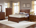 Reflections Sleigh Storage Bed (Medium Cherry Finish)