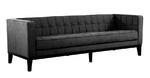Roxbury Tufted Sofa (Charcoal)