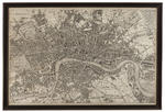 Vintage Map of London (Canvas) - 37 x 46h
