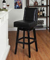Wayne Swivel Counter Stool (Black)