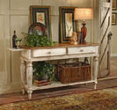 Wilshire Sideboard Table (Pine & Antique White Finish)