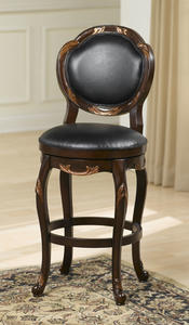 Alaina Swivel Barstool (Distressed Cherry & Copper Highlights Finish) - [63370]