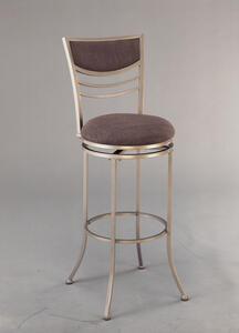 Amherst Swivel Counter Stool (Champagne Finish) - [4174-826]