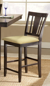 Arcadia Non-Swivel Counter Stool - Set Of 2 (Espresso Finish) - [4180-822YM]