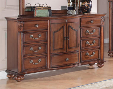 Barkley Square Dresser (Warm Oak Finish) - [BQ600DR]