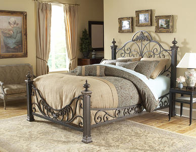 Baroque Bed (Gilded Slate Finish)