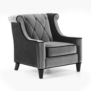 Barrister Chair (Gray Velvet) - [LC8441GRAY]