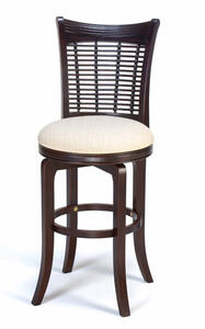 Bayberry Wicker Swivel Counter Stool (Dark Cherry Finish) - [4783-826]