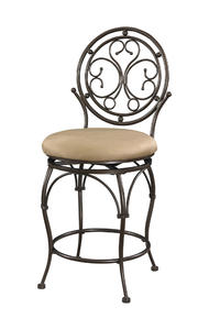 Big & Tall Scroll Circle Back Counter Stool (Bronze) - [586-726]