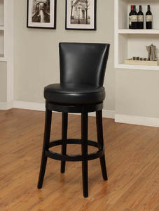 Boston Swivel Barstool (Black) - [LC4044BABL30]