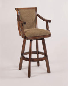 Brandon Swivel Bar Stool (Warm Cherry) - [429-432]