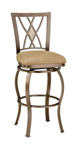 Brookside Diamond Fossil Back Swivel Counter Stool (Brown Powder Finish) - [4815-827]