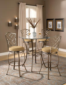 Brookside Hanover Bar Height Bistro Table Set  (Brown Powder Coat Finish) - [4815PTBSHR5]