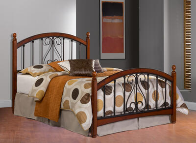 Burton Way Bed (Cherry & Black Finish)