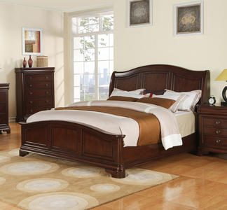 Cameron Bed (Dark Cherry Finish) - [CM750QB]
