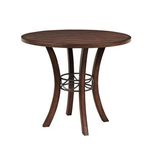 Cameron Counter Height Round Table (Chestnut Brown Finish) - [4671CTB]