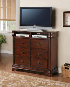 Cameron Media Cabinet (Dark Cherry Finish) - [CM750TV]