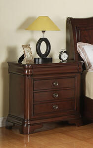 Cameron Nightstand (Dark Cherry Finish) - [CM750NS]